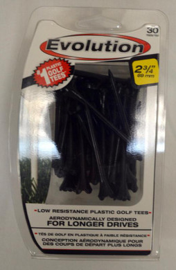 "Pride Tee Evolution Plastic Golf Tees - 2 3/4"" - Black"