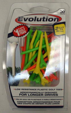 "Pride Tee Evolution Plastic Golf Tees - 2 3/4"" - Fruit"