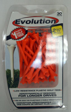 "Pride Tee Evolution Plastic Golf Tees - 2 3/4"" - Orange"