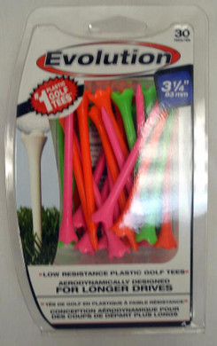 "Pride Tee Evolution Plastic Golf Tees - 3 1/4"" - Citrus"