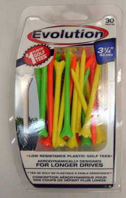 "Pride Tee Evolution Plastic Golf Tees - 3 1/4"" - Fruit"