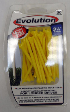 "Pride Tee Evolution Plastic Golf Tees - 3 1/4"" - Yellow"