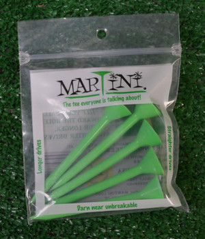 "Martini 3 1/4"" Green Golf Tees"
