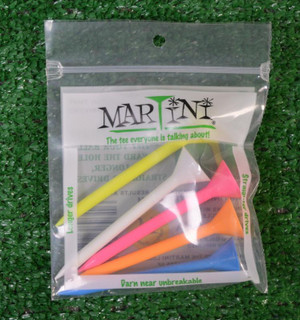 "Martini 3 1/4"" Mixed Color Golf Tees"