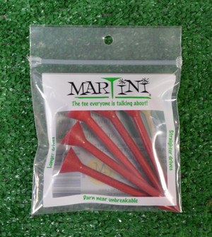"Martini 3 1/4"" Red Golf Tees"