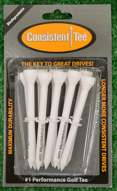 "Consistent Tees 3 1/4"" Golf Tees - White"