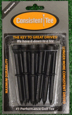 "Consistent Tees 3 1/4"" Golf Tees - Black"