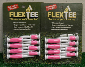 "Flex Tees 2 1/4"" 2 1/2"" 3"" Golf Tees - Pink - FT731311"