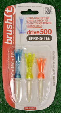 "Brush T Spring Tees Three-Pack - 2 3/4"", 3 1/8"", 3 1/2"""