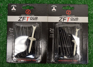 "Zero Fiction ZFTour 3 Prong Black Golf Tees 2 3/4"" (ZT10005)"