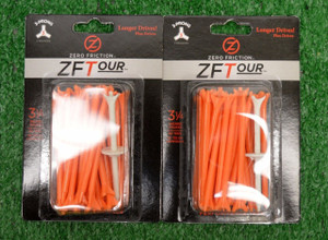 "Zero Fiction ZFTour 3 Prong Orange Golf Tees 3 1/4"" (ZT15002)"