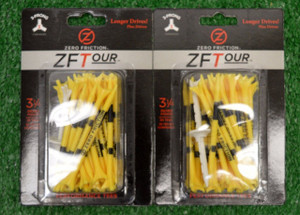 "Zero Fiction ZFTour 3 Prong Yellow Golf Tees 3 1/4"" (ZT15004)"