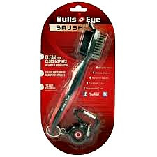 The Bullseye Golf Brush Black/Red