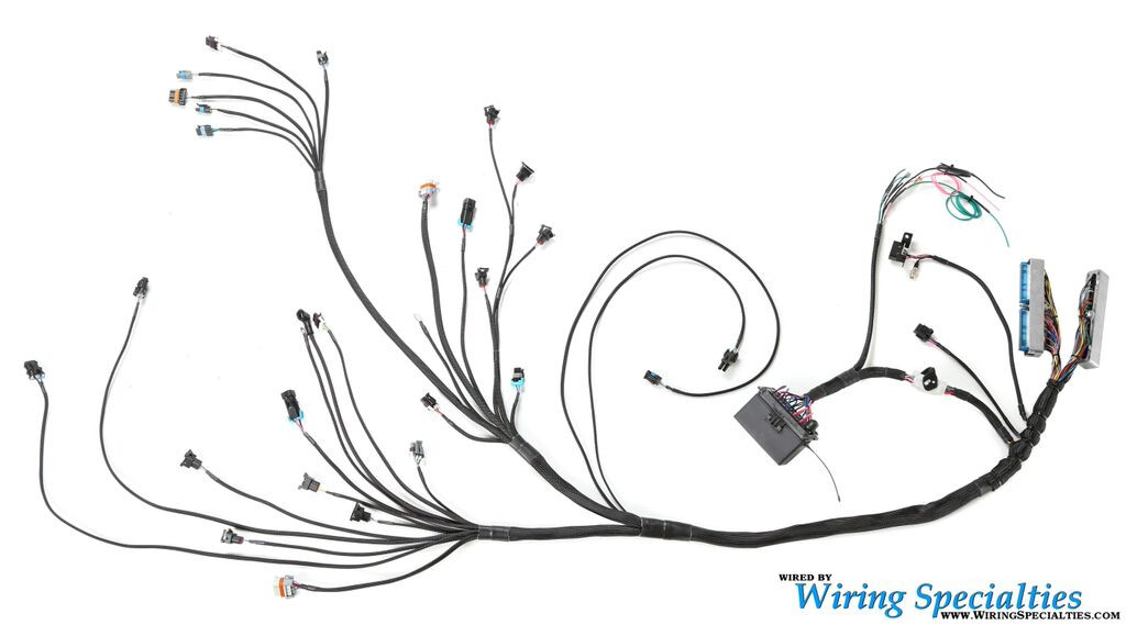 ls1 wiring harness for datsun 260z pro series ls1 wiring harness diagram harness install part 1 ls1 240sx (s14