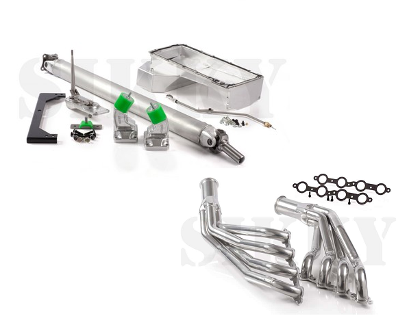 SIKKY Stage 2 Nissan 350Z LSX Swap Kit w/ Headers