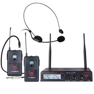 Nady U-2100 Dual Combo HM-GT 200-Channel UHF Wireless Headmic and Instrument/Guitar System