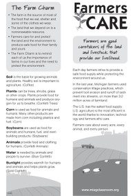 Farmers CARE Bookmark
