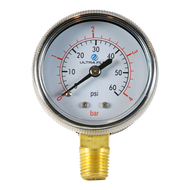 "2"" Beer Regulator Gauge - 0-60 P.S.I."