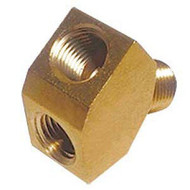 Beer Regulator Y Splitter - Brass