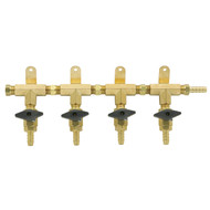 4 Product Beer Gas Manifold - Modular Brass - DTM1404