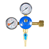 Double Beer Regulator Gauge - CO2 Primary - R1002