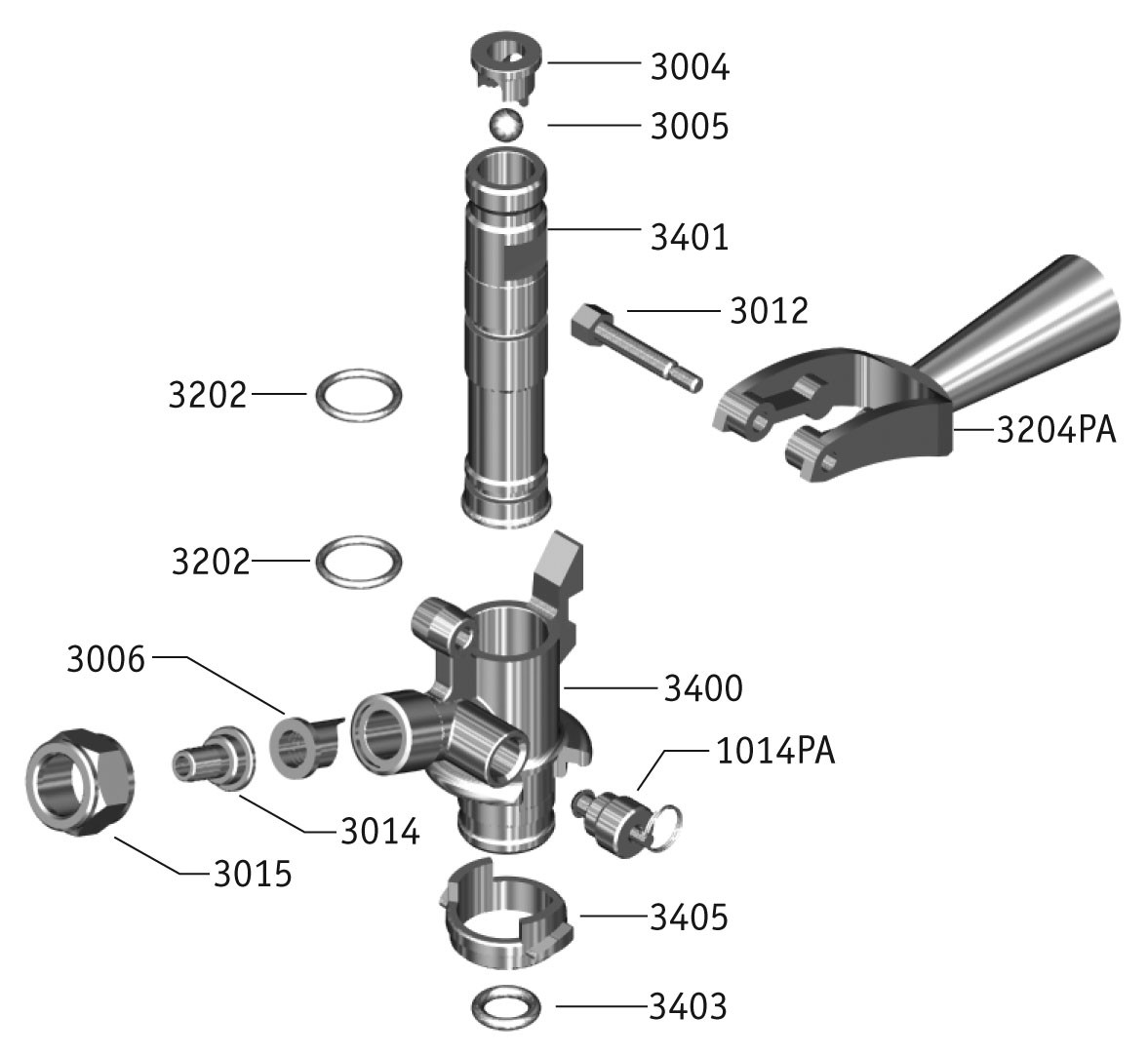 U U0026 39  System Keg Couplers Exploded View