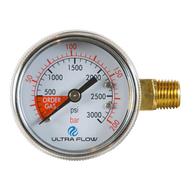 "2"" Beer Regulator Gauge - 0-3000psi LHT"
