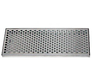 "Surface Mount Draft Beer Drip Tray, 24"" x 8"", Stainless"