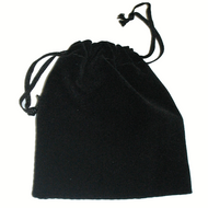 "3"" x 4""  Black Drawstring Pouch"