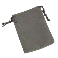 "3"" x 4"" Dark Grey Drawstring Pouch"