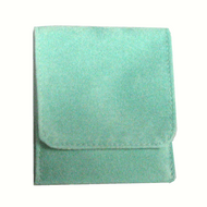"3"" x 3"" Soft Green Fold-Over Pouch"