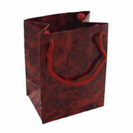 Red Marble Drawstring Bag