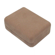 Mauve ecosuede raised pendant box