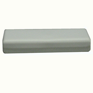 White leatherette bracelet box with packer