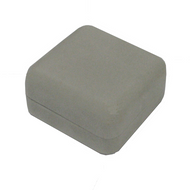 Grey metal earring box with sleeve