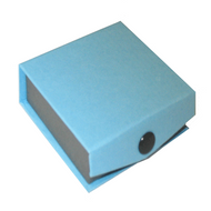 Contemporary Snap blue earring box