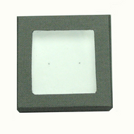 Classic Grey Paper Earring Box with Window