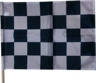 mounted checkered flag