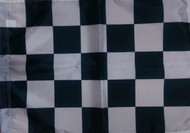 un-mounted checkered race flag