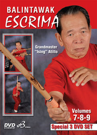 "ESCRIMA BALINTAWAK VOL. 7-8-9 (3 DVD SET) By GM ""Ising"" Atillo"