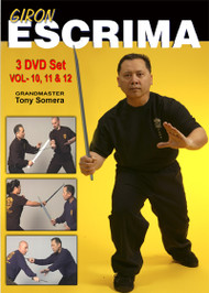 GIRON ESCRIMA Vol-10, 11 & 12 (3 DVD Set)  by GM TONY SOMERA