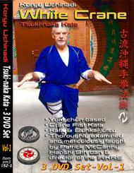 MASTERCLASS KATA BUNKAI SERIES White Crane - Tsuki-naka Kata Volume 1 (3 Disc Set) By Patrick McCarthy Hanshi