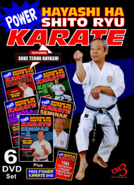Power Karate Hayashi Ha Shito Ryu Kobudo - 6 DVD Set + Free DVD