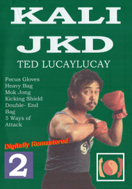 TED LUCAYLUCAY Kali Escrima / Jeet Kune Do (DVD Vol-2) KICKING SHIELD PUNCHING BAG