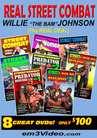 "Street Combat 8 DVD Set SPECIAL by Willie ""The Bam"" Johnson"