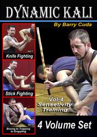 BARRY CUDA DYNAMIC KALI (Vol-1-2-3-4) KNIFE FIGHTING DVD JKD FILIPINO ESCRIMA ARNIS