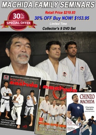 MACHIDA Karate Seminars SPECIAL 30% OFF (9 DVD Set)