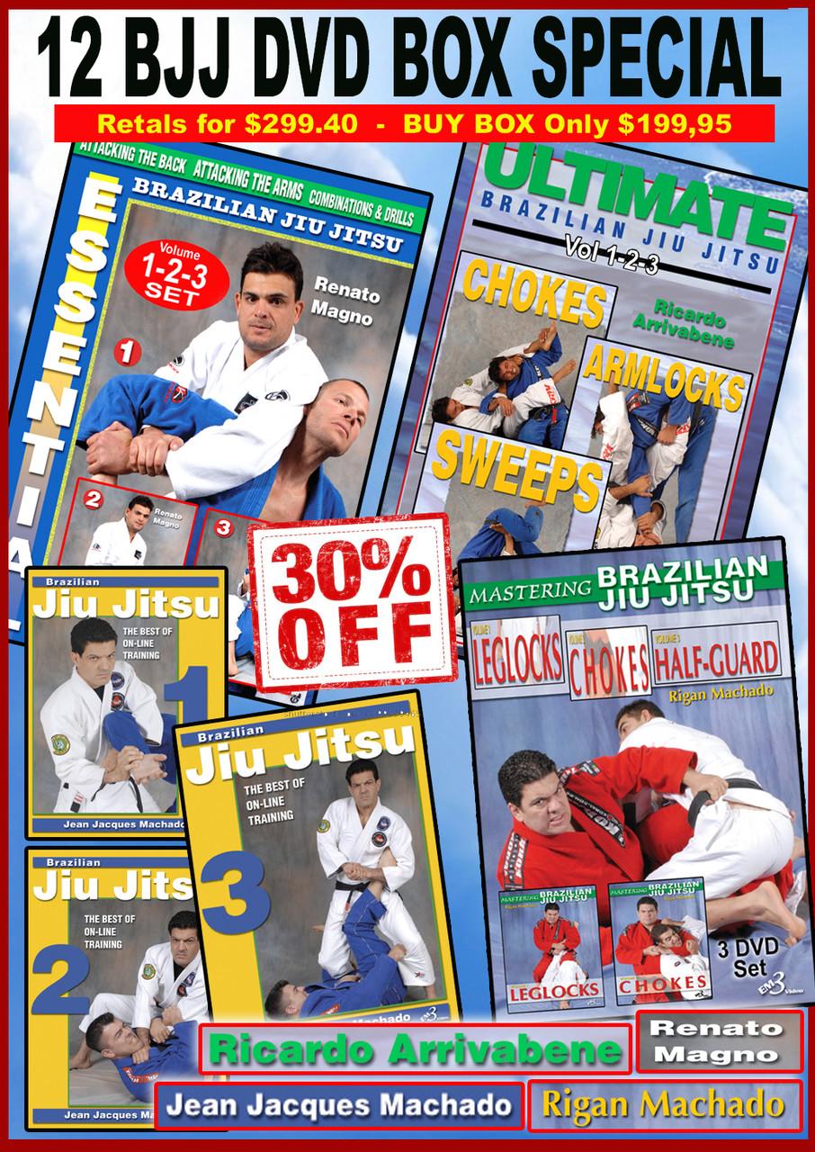 Brazilian Jiu-jitsu 12 DVD Box 30% OFF
