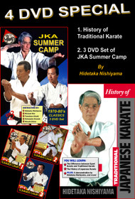 4 DVD SPECIAL - History of Traditional Karate and 3 DVD Summer Camp Set by H. Nishiyama