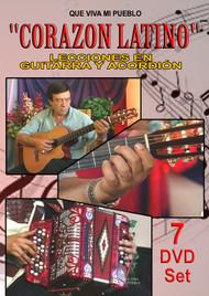 CORAZON LATINO - Curso de Guitarra y Acordeón para Principiantes en 7 DVDs